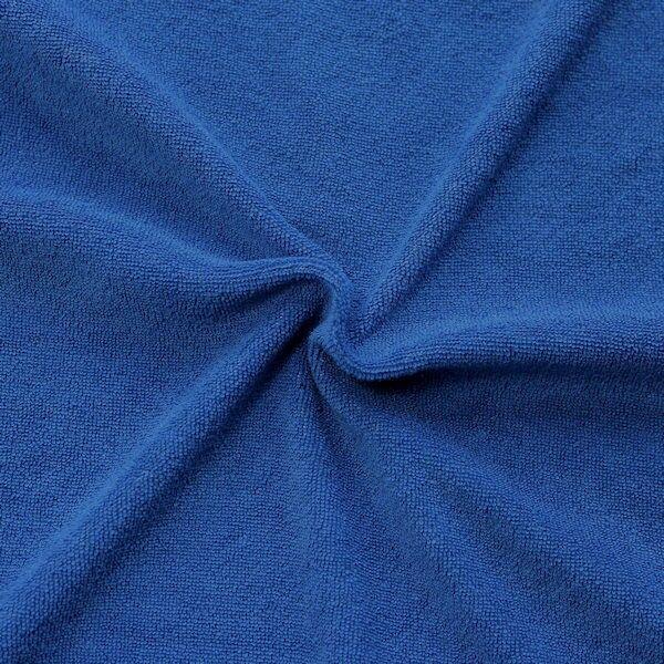 Stretch Micro Frottee Baumwollstoff Farbe Royal-Blau