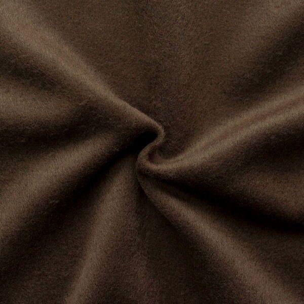 """Mantelflausch """"Wool Look"""" Farbe Dunkel-Braun"""