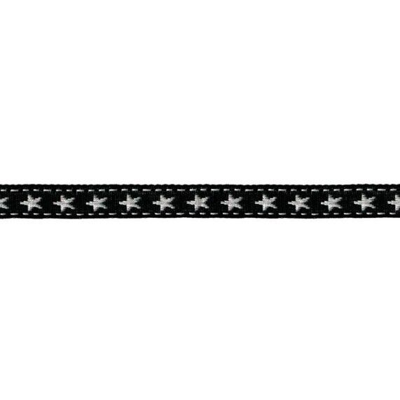 Prym Borte mit Stern 10mm x 2m (Breite / Länge) schwarz / weiss