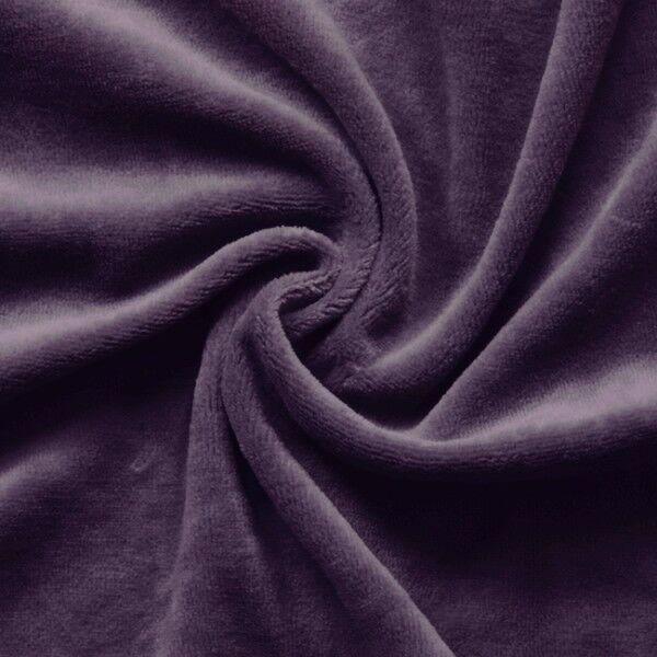 Nicki Baumwollstoff Farbe Dunkel Lila