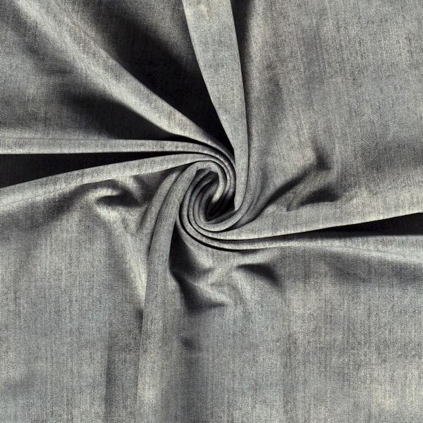 "Sweatshirt Baumwollstoff French Terry ""Jeans Look"" Farbe Grau"