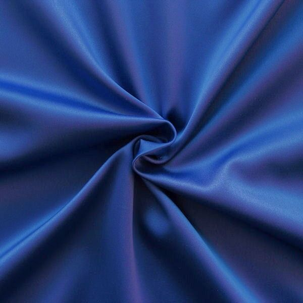 Stretch Satin Stoff 2 Farbe Royal-Blau