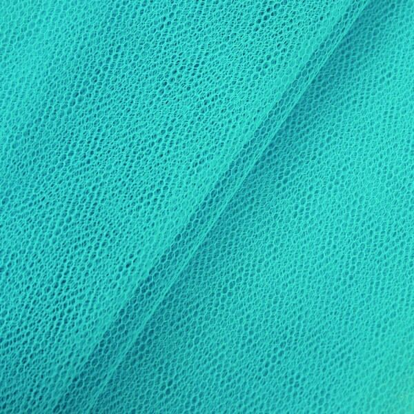 Tüll Stoff Farbe Azur-Blau