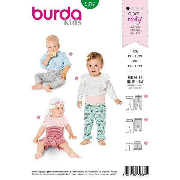 diverse Hosen für die Kleinen, Gr. 56 - 86, Schnittmuster Burda 9317