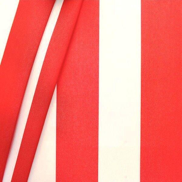 """Markisenstoff / Tuch Breite 120cm """"Blockstreifen"""" Farbe Rot-Weiss"""