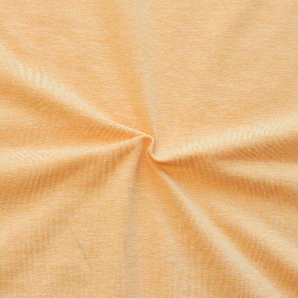 "Baumwoll Stretch Jersey ""Fashion Basic"" Farbe Orange-Gelb melange"