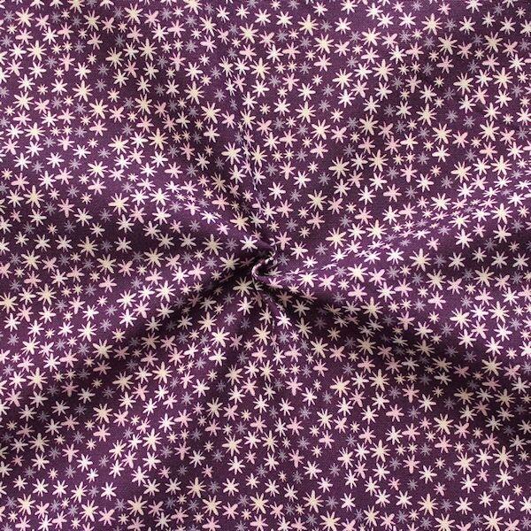 "100% Baumwollstoff ""Twinkle Stars"" Farbe Lila-Violett"