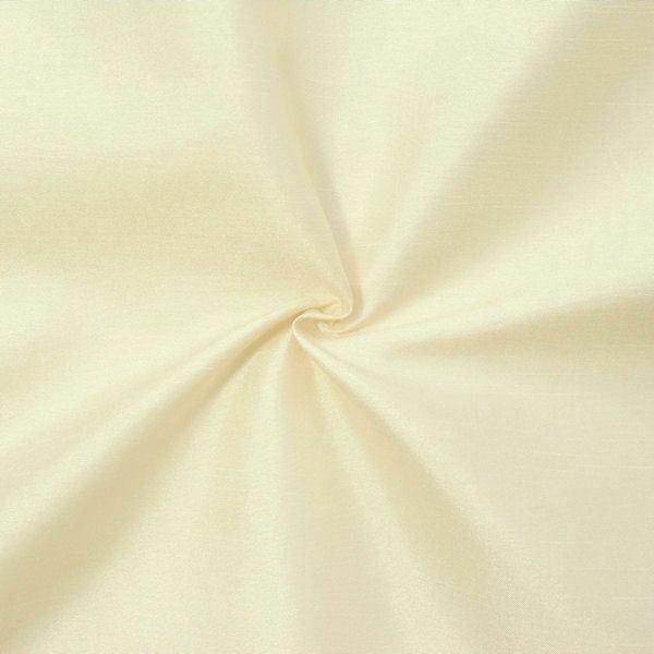 Kleider Deko Taft Dupionseide Optik Creme-Weiss