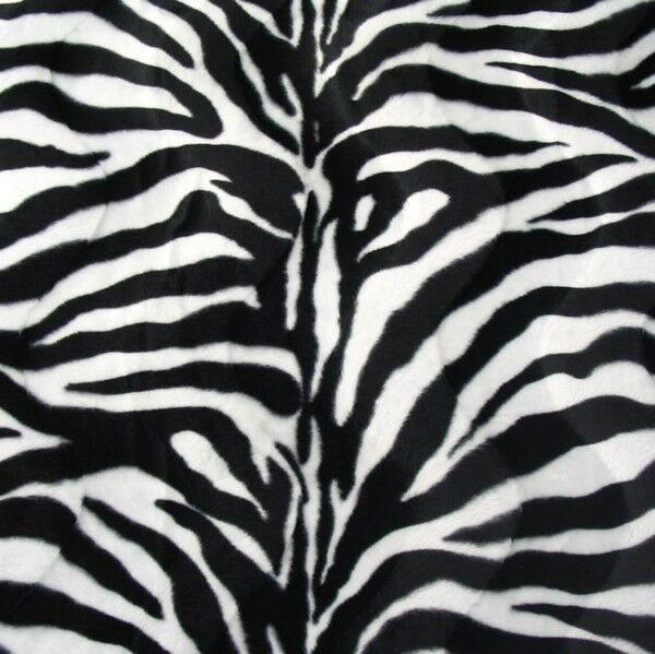 Zebra Tierfellimitat Velboa