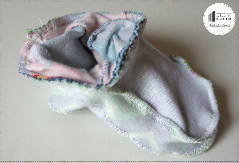 Kinderschühchen selbs nähen - fertiger Füßling