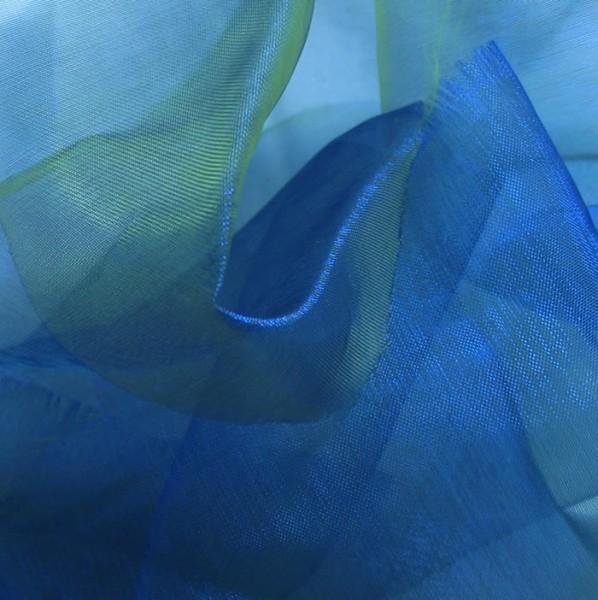 Organza Royal-Blau-Lind-Grün