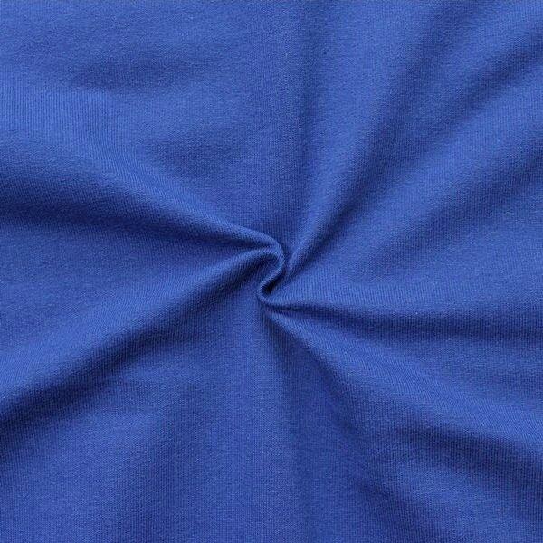 """Sweatshirt Baumwollstoff French Terry """"Fashion Basic 2"""" Farbe Royal-Blau"""