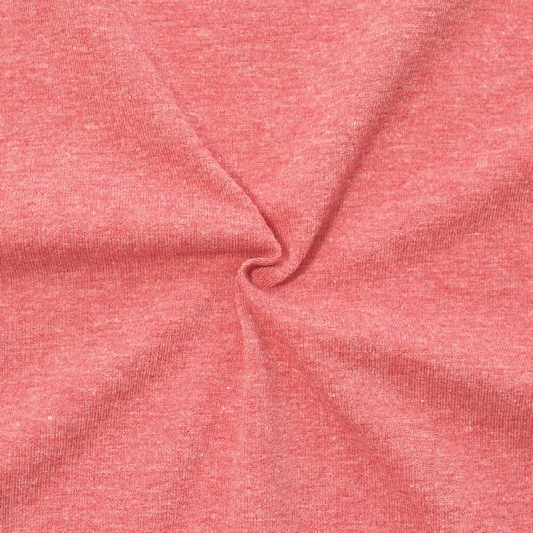 "Baumwoll Stretch Jersey ""Fashion Basic"" Farbe Rot melange"