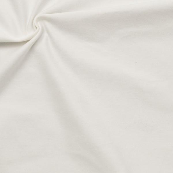 Bio-Baumwoll Stretch Jersey Organic Weiss