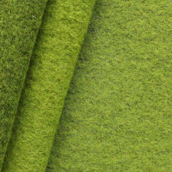 Wollmix Walkstoff Lind-Grün