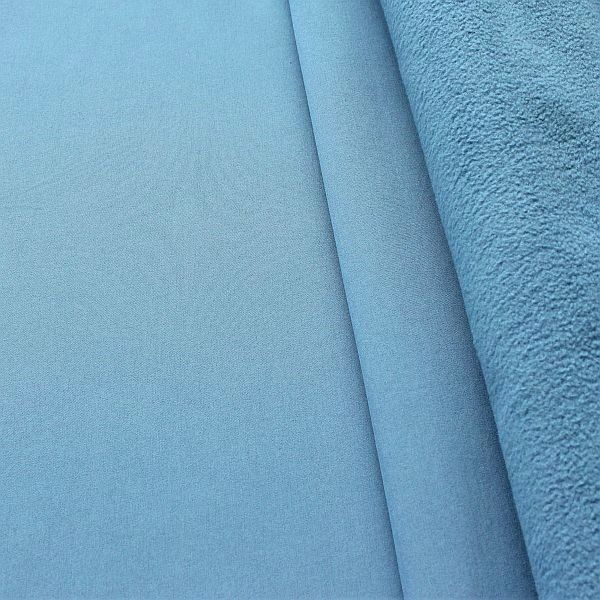 Softshell Fleece Stoff Tauben-Blau