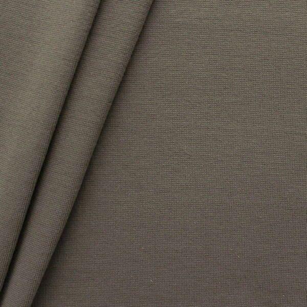 Baumwoll Bündchenstoff glatt Schlamm