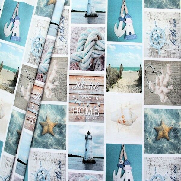 "Dekostoff Digital Druck ""Maritime Romantik 3"" Multicolor"