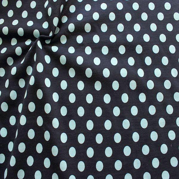 Sweatshirt Baumwollstoff Punkte Blau