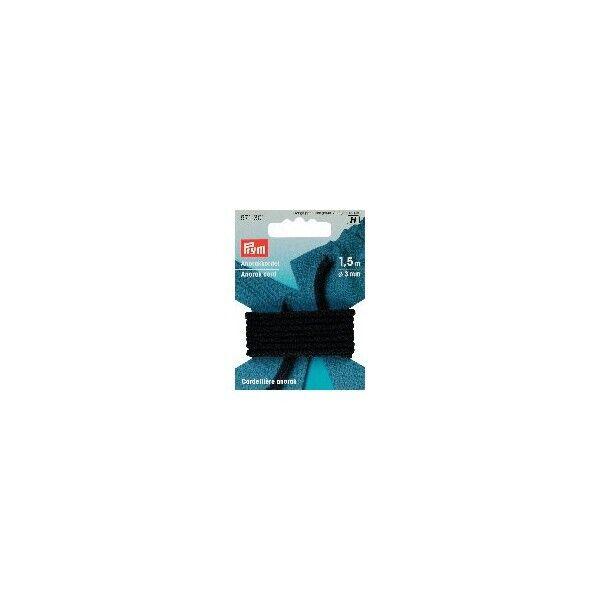 Prym Anorakkordel Schwarz 3 mm Durchmesser, 150 cm lang