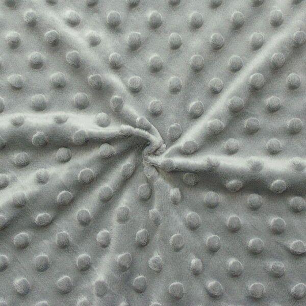 """Micro Fleece Stoff """"Noppen"""" Farbe Grau"""