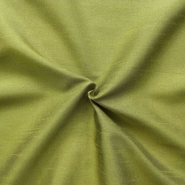 Kleider / Deko Taft Dupionseide Optik Farbe Lind-Grün