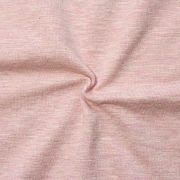 Sweatshirt Baumwollstoff Melange Rosa