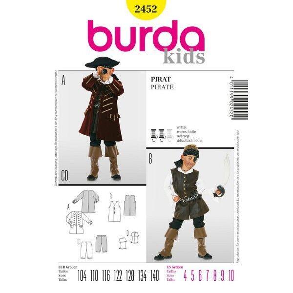 Pirat, Gr. 104 - 140, Schnittmuster Burda 2452