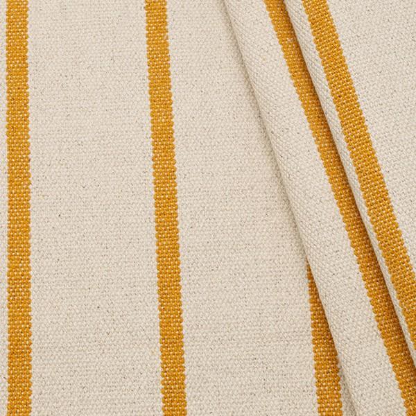 100% Baumwolle Panama schwere Qualität Streifen Natur-Curry