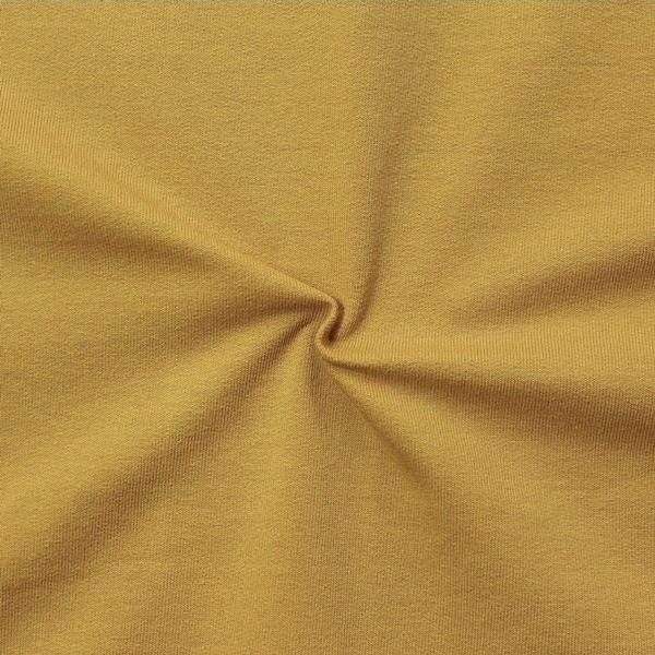Sweatshirt Baumwollstoff French Terry Curry-Gelb