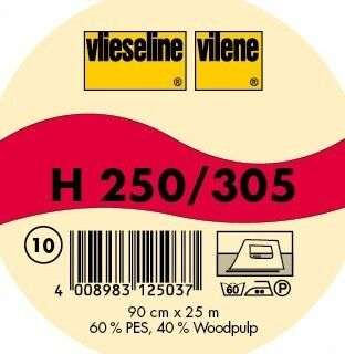 Vlieseline Bügeleinlage Typ H 250 Weiss