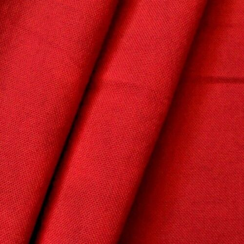 100% Baumwolle Canvas Farbe Rot