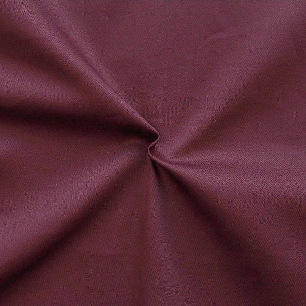 Stretch Baumwolle Satin Farbe Bordeaux