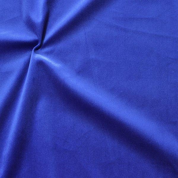 Microfaser Samt Stoff Velvet Touch Royal-Blau