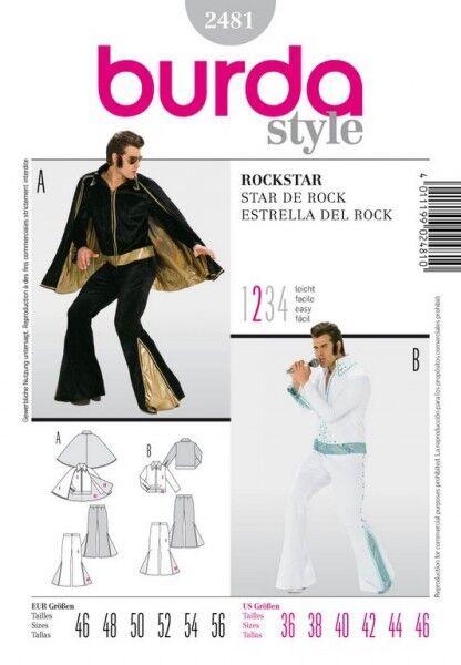 Rockstar, Elvis Presley, Gr. 46 - 56, Schnittmuster Burda 2481