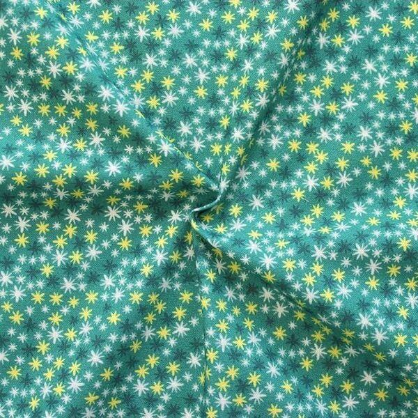 100% Baumwollstoff Twinkle Stars Petrol