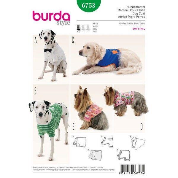Hundemantel – 5 Varianten, Schnittmuster Burda 6753