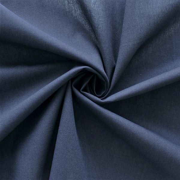 Baumwolle Popeline Navy-Blau