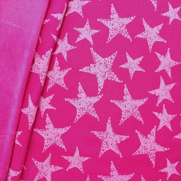 """Alpenfleece Sweatshirt """"Sterne Mix groß"""" Farbe Pink"""