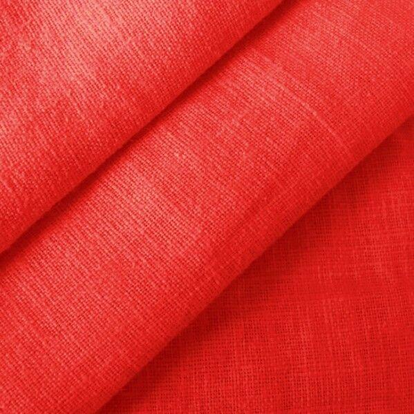 100% Leinen Stoff Artikel Barcelona, Farbe Rot