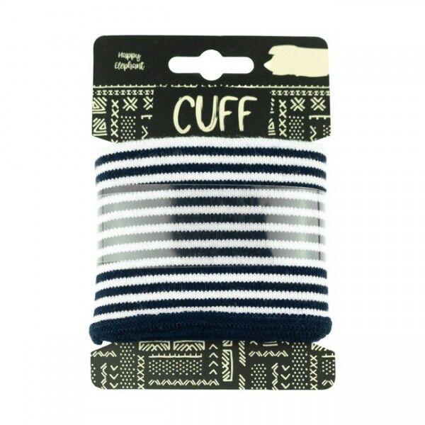 Board Cuff Bündchen Ringel Navy-Blau Weiss