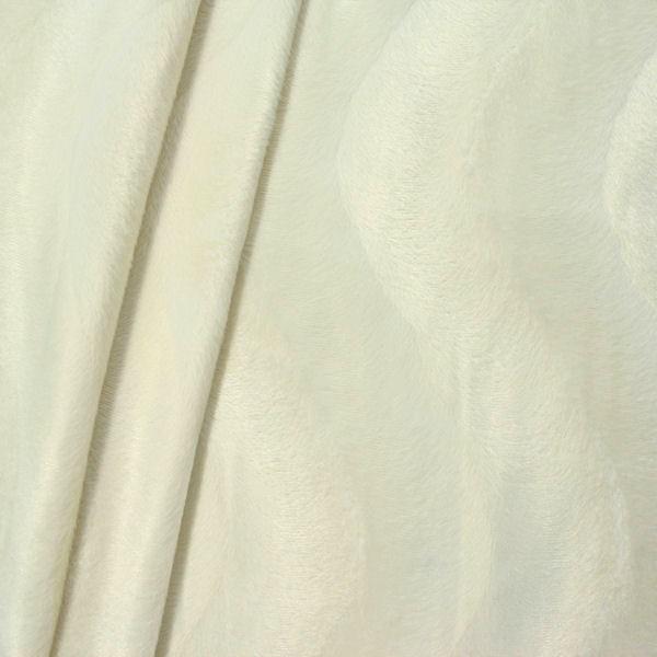 Teddy Fellimitat Velboa Farbe Creme-Weiss