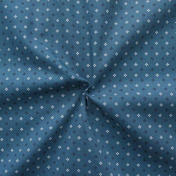 100% Baumwollstoff Sternblümchen Blau