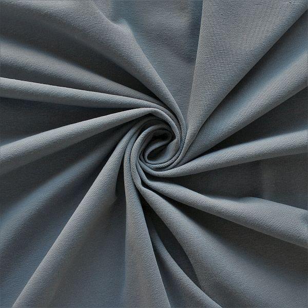 Baumwoll Stretch Jersey Dunkel-Grau