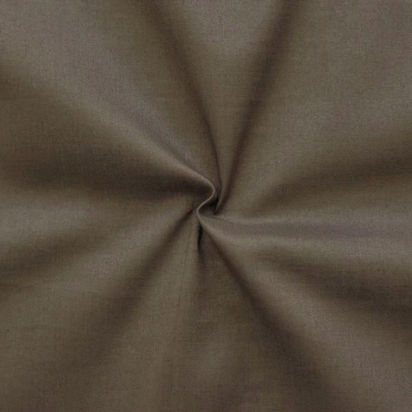 100% Baumwolle Musselin Farbe Dunkel-Braun
