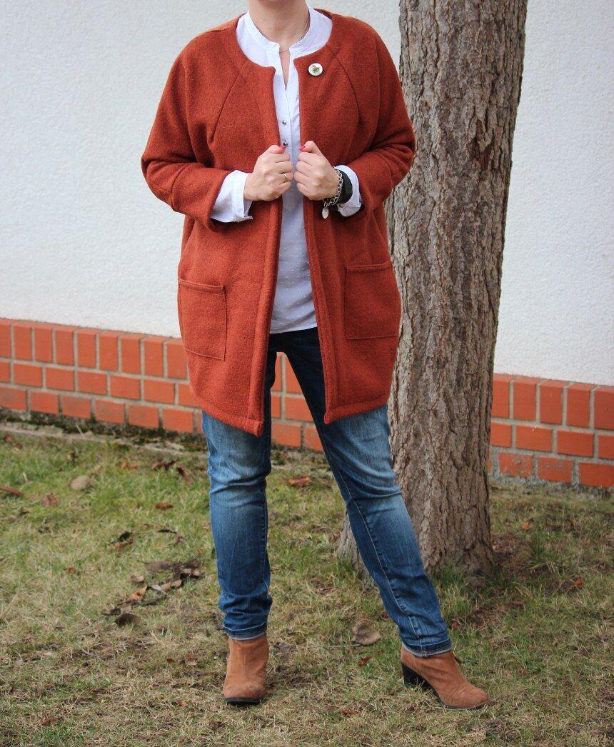 Schnittmuster mantel fleece