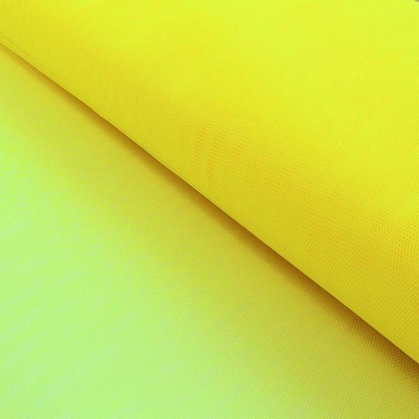 Tüll Stoff Zitronen-Gelb