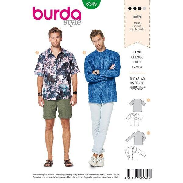 Hawaii– Hemd Gr. 46 - 60, Schnittmuster Burda 6349