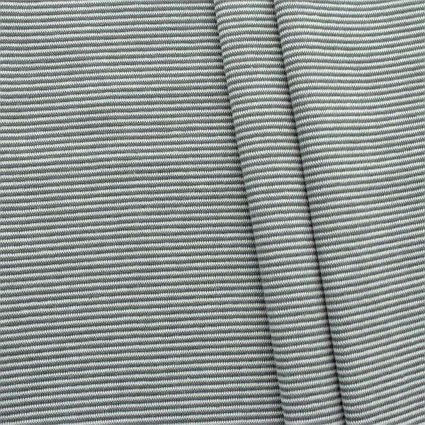 Baumwoll Bündchenstoff Ringel Mini glatt Grau