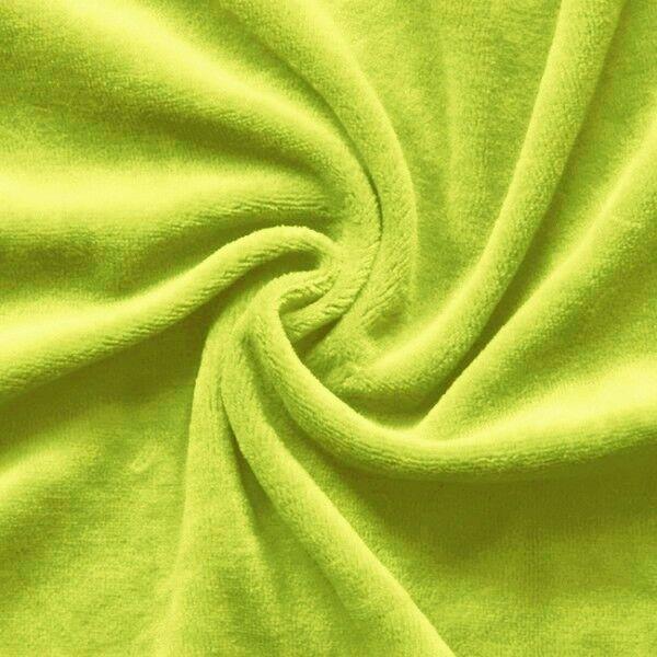 Nicki Baumwollstoff Farbe Lind-Grün